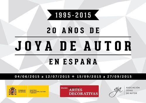 """AJA - Póster exposición """"20 Años de Joya de Autor en España"""" MNAD 2015"""