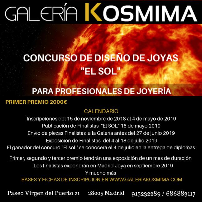 Concurso de diseño de joyas convocado por Galería Kosmima