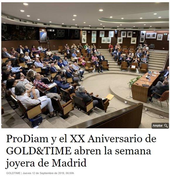 XX Aniversario diario Gold and Time - Grupo Nexo