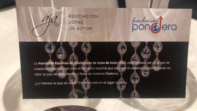 Joyas de Autor colabora con Fundación Pondera