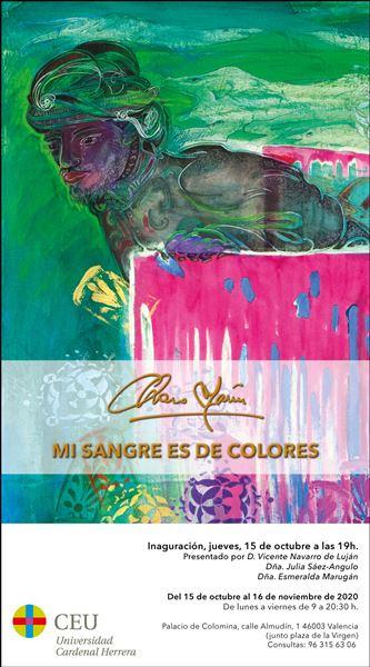 Charo Marín - Mi sangre es de colores - Exposición pictórica en Valencia 2020