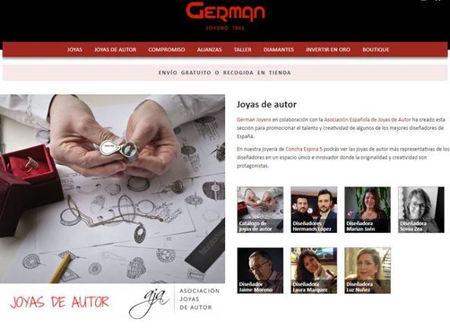 German Joyero - Sección web joyeria autor - AJA