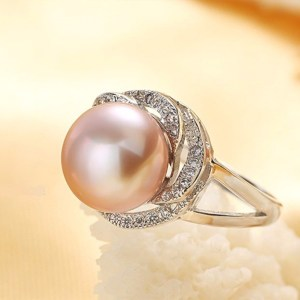 Anillo Plata 925 con Perla Natural Talla Ajustable