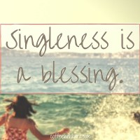 singleness is a blessing