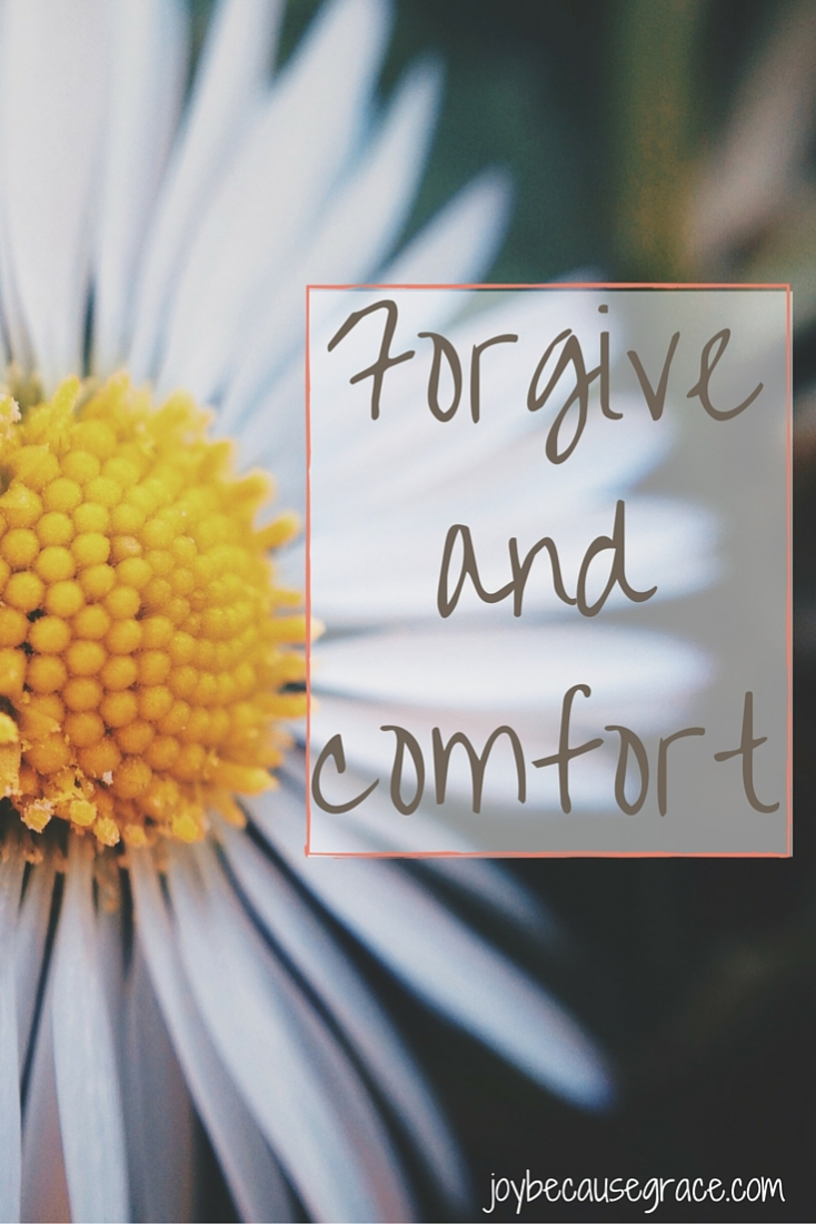 The enemy wants us not to forgive nor comfort those who hurt us. He wants us to constantly feed on our hurt and pain because then we won't be nearly as effective for the Kingdom of God. But we know better.