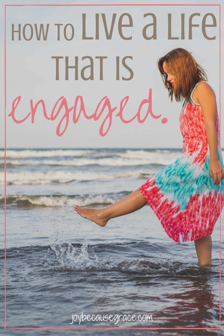 We can be engaged, even if we aren't planning our wedding. Through Jesus, we can live life to the full. Here's 5 ways we can live life engaged.