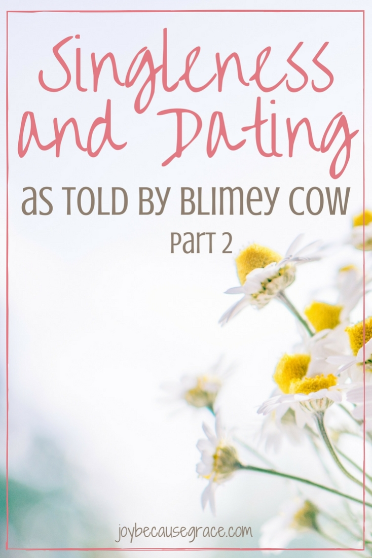 Singleness and Dating as told by blimey cow
