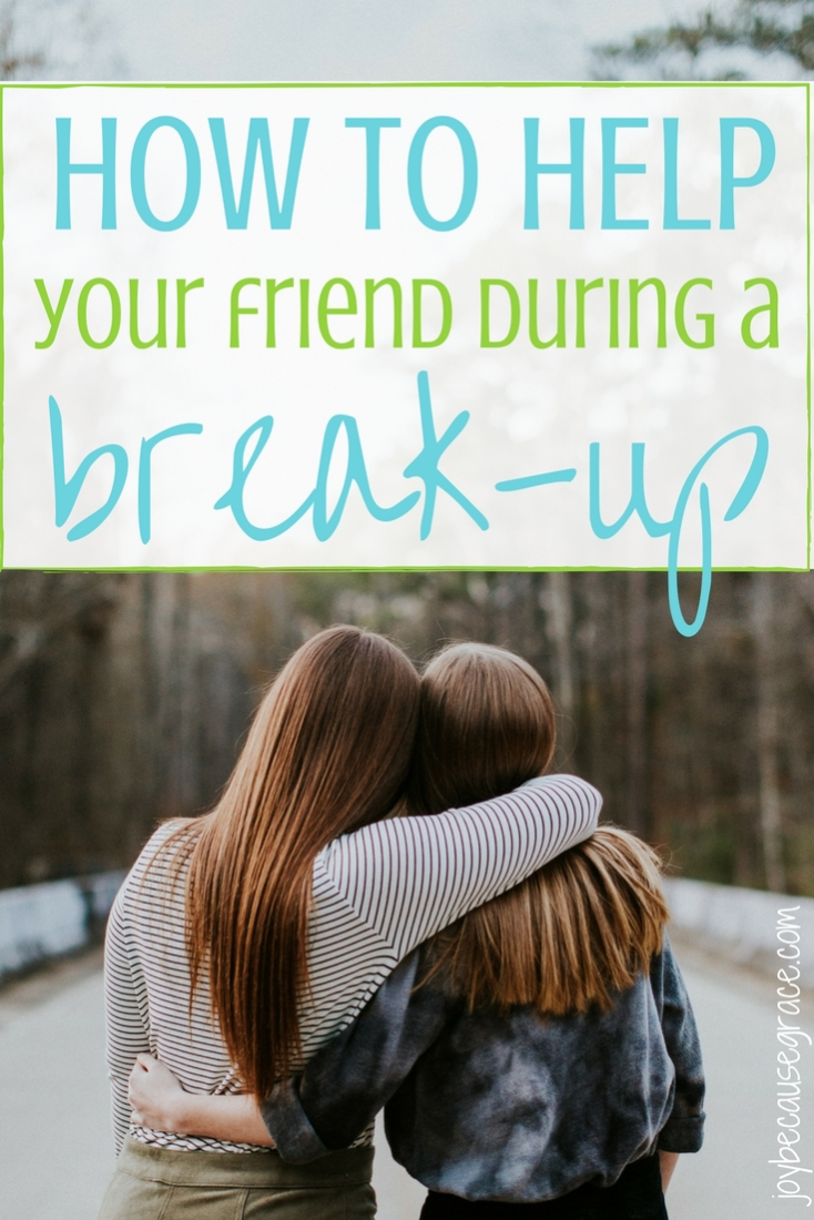 It can be difficult to know exactly how to help your friend during a break-up, but here are two ideas to get you started.