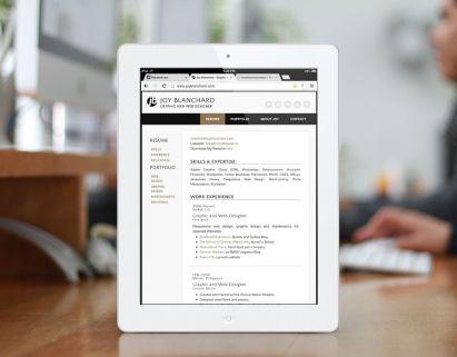 iPad Portrait - Resume Page