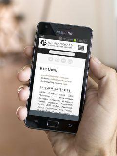 Smartphone Portrait - Resume Page