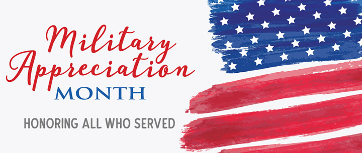 Military Month banner