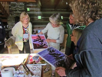 Joyce Burkholder, Canadian Wilderness Artist, Algonquin Park, Painting Workshop Instructor, Wilno, Ontario
