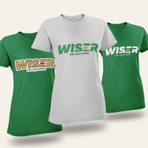 Wiser with Joyce Daniels Tshirt female