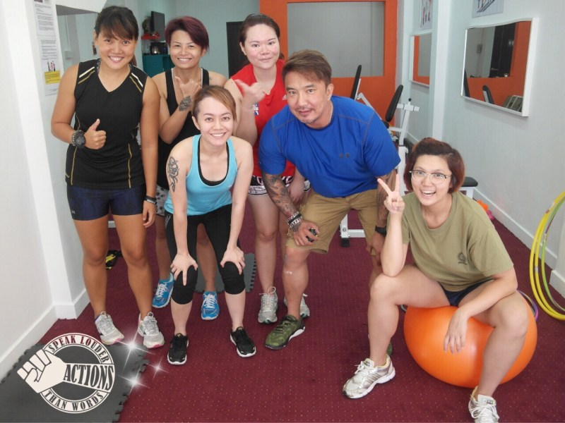 ladies circuit training class with fellow bloggers