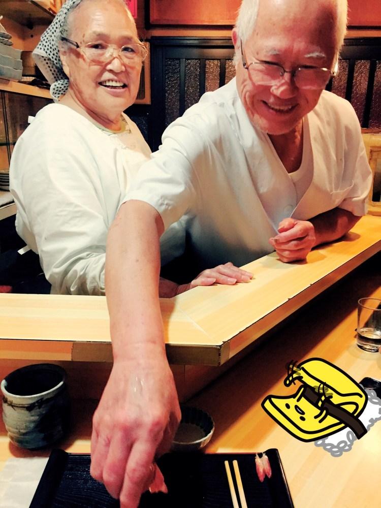 Mr and Mrs Yano koyoshi sushi