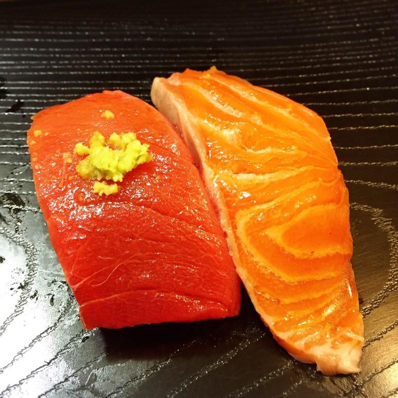 toro and salmon at koyoshi