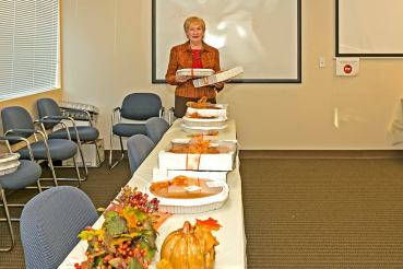 Joyce Hill Realty gave away 75 pies.