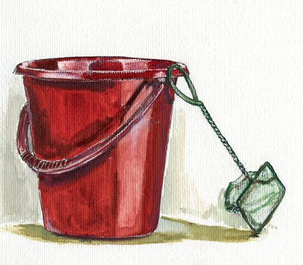 red bucket