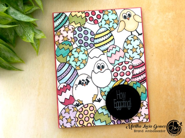 Easter Eggs Stamped Card