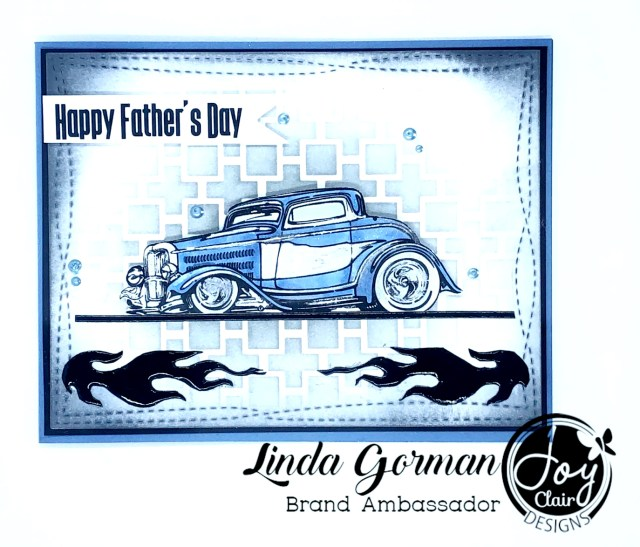 Masculine card stamped with the Classic Father's Day Stamp set by Joy Clair Designs.