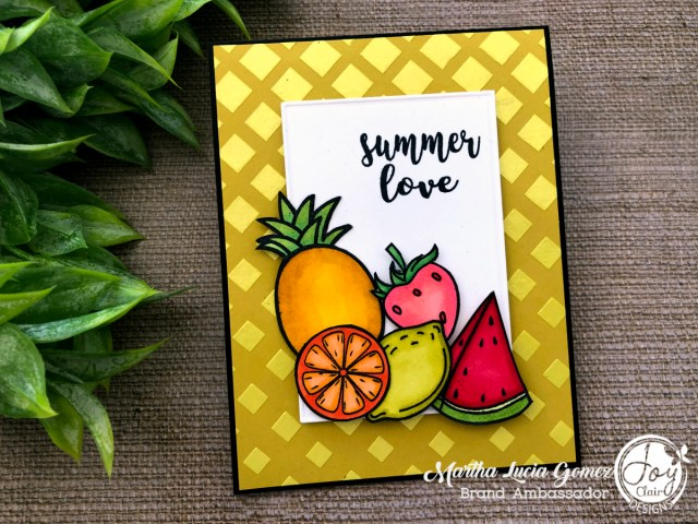 Cards with texture and Joy Clair Stamps