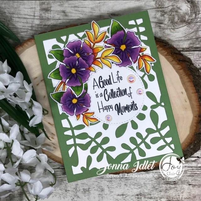 Spring Floral Basket Digital Stamp Set