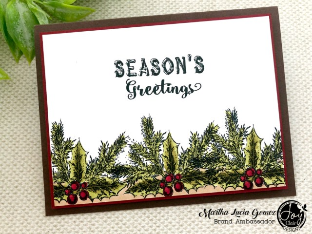 Inspiration for Christmas in July. Card stamped with Rustic Christmas Sentiments set from Joy Clair Designs
