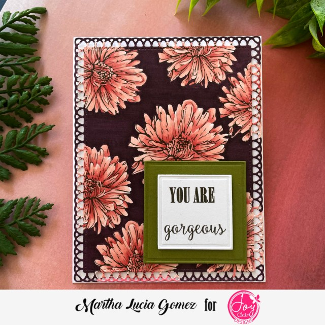 Full colored floral card