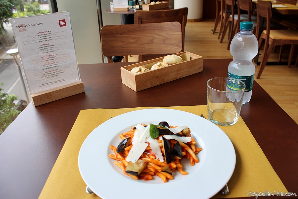 Lunch at illy Cafe Milano at Piazza Gae Aulenti