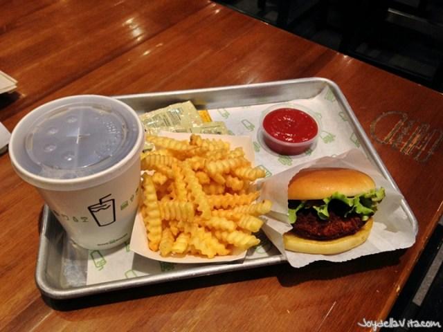 Shroom Burger at Shake Shack Istanbul