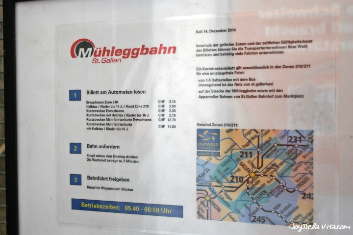Prices for Mühleggbahn St. Gallen