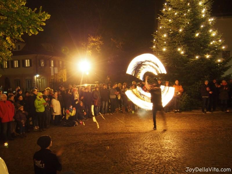 Fire Show at Christmas Market in Tettnang 2015 Lake Constance JoyDellaVita