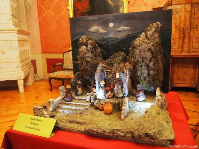 Peruvian Crib at the Christmas Crib Exhibition at the New Castle Tettnang