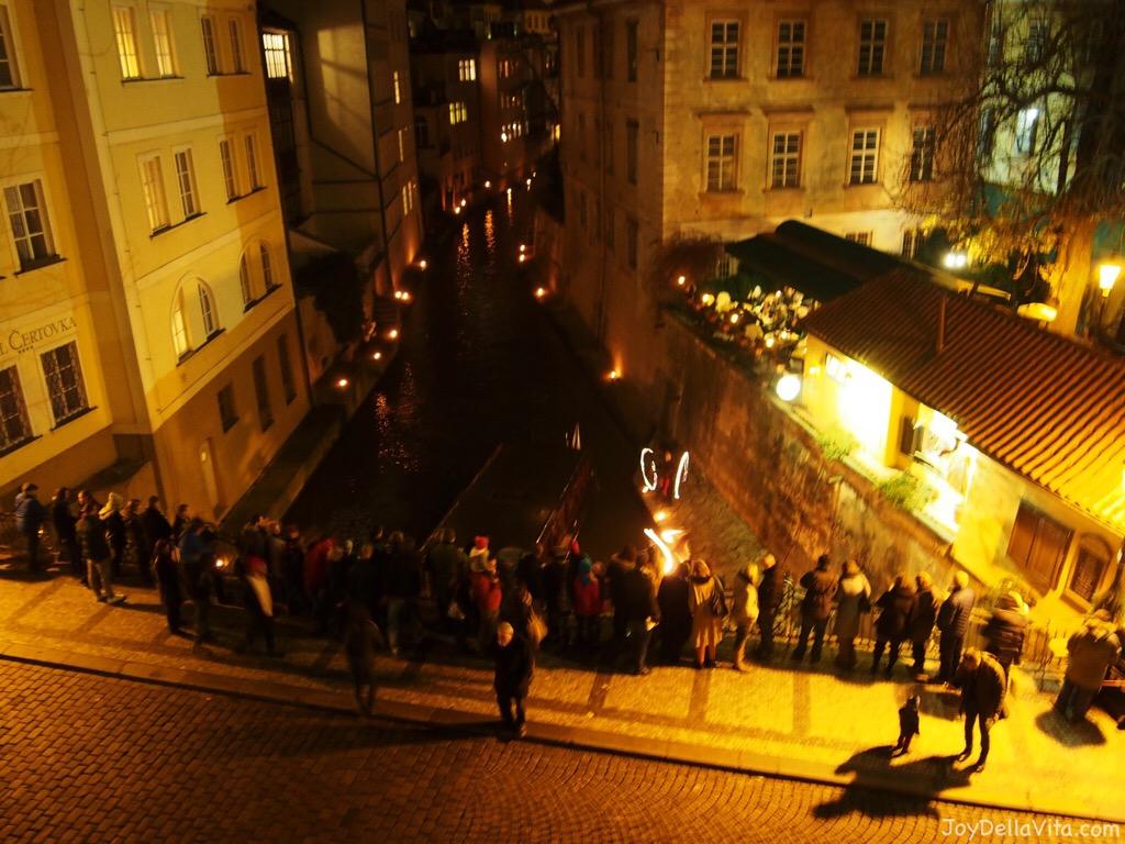 Saint Nicholas Day (Mikuláš) in Prague on December 5th