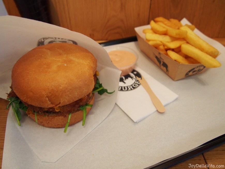 Veggie Burger Menu at Ruff's Burger in Munich at Rindermarkt