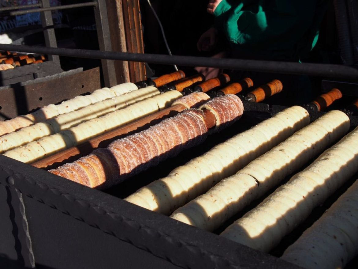 Original Czech Trdelnik at the Christmas Market in Prague