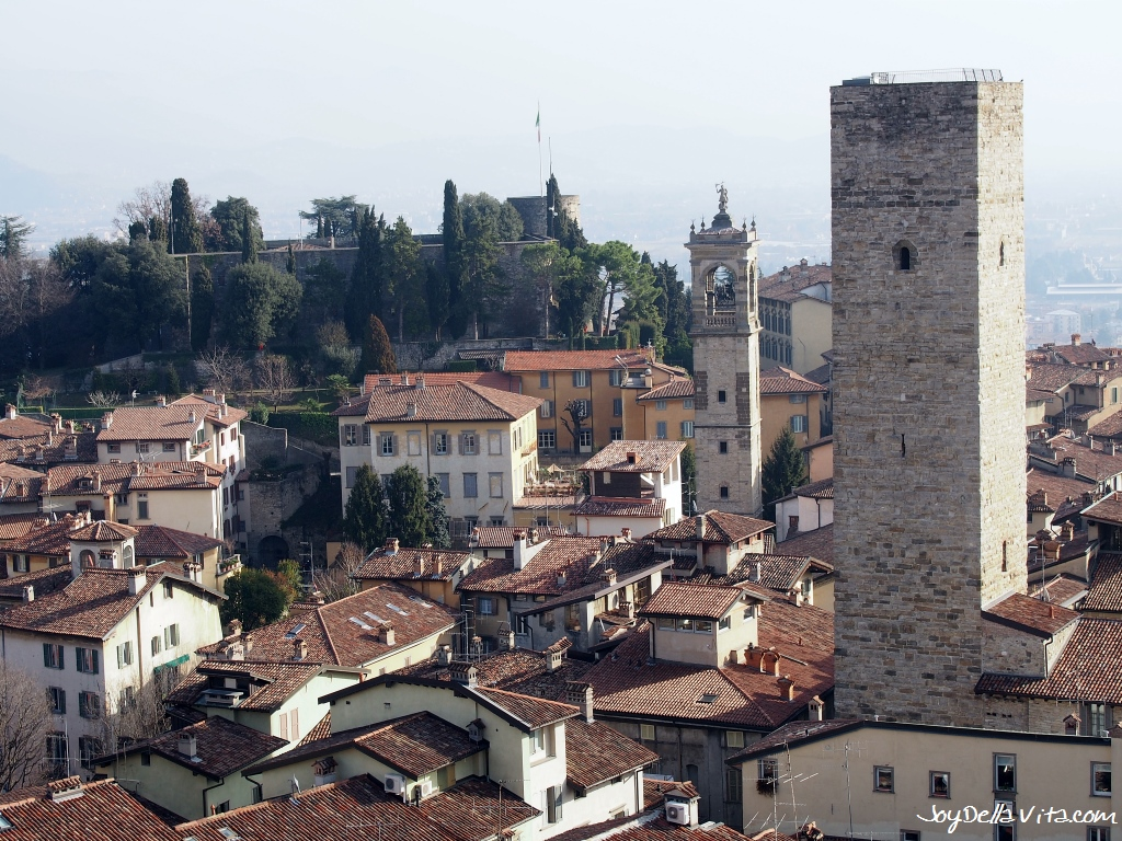 On Top of the Civic Tower Campanone Bergamo