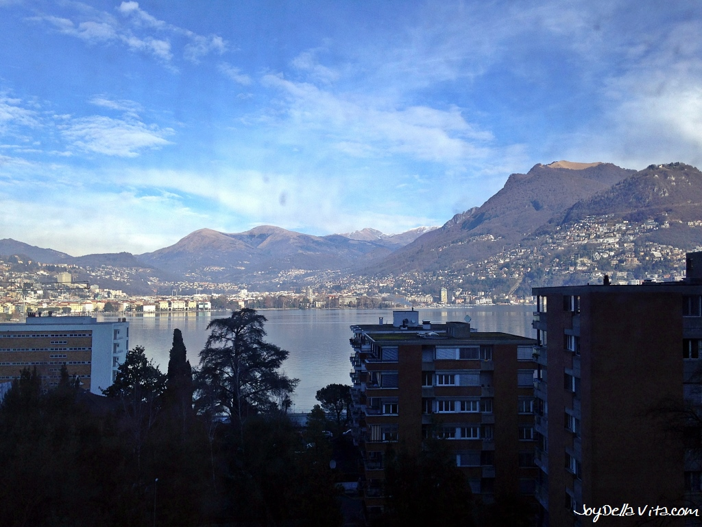 Lake Lugano as seen from the Train