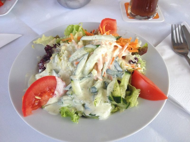 Small mixed Salad at Ristorante Credo in Friedrichshafen