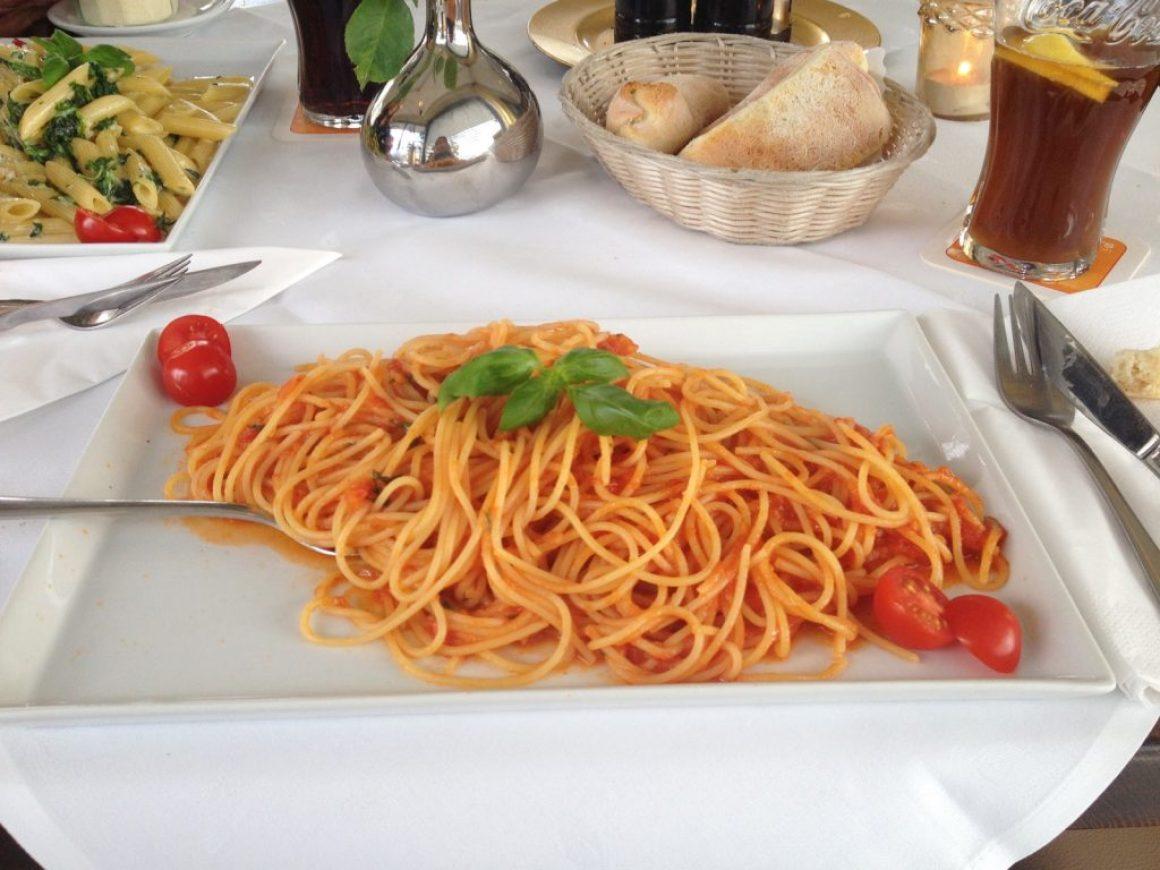 Spaghetti Napoli at Ristorante Credo in Friedrichshafen