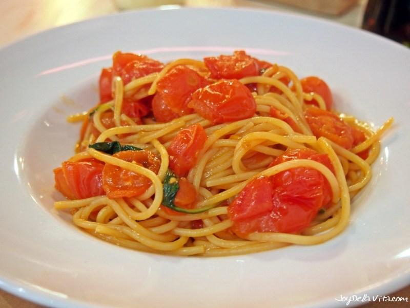 Spaghetti Pomodoro at Rossopomodoro Venice near St Mark's Square