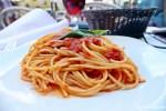 Spaghetti Pomodoro Ristorante Orcagna at Piazza della Signoria in Florence
