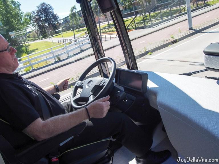 Riding the autonomous Mercedes-Benz Future Bus in Amsterdam