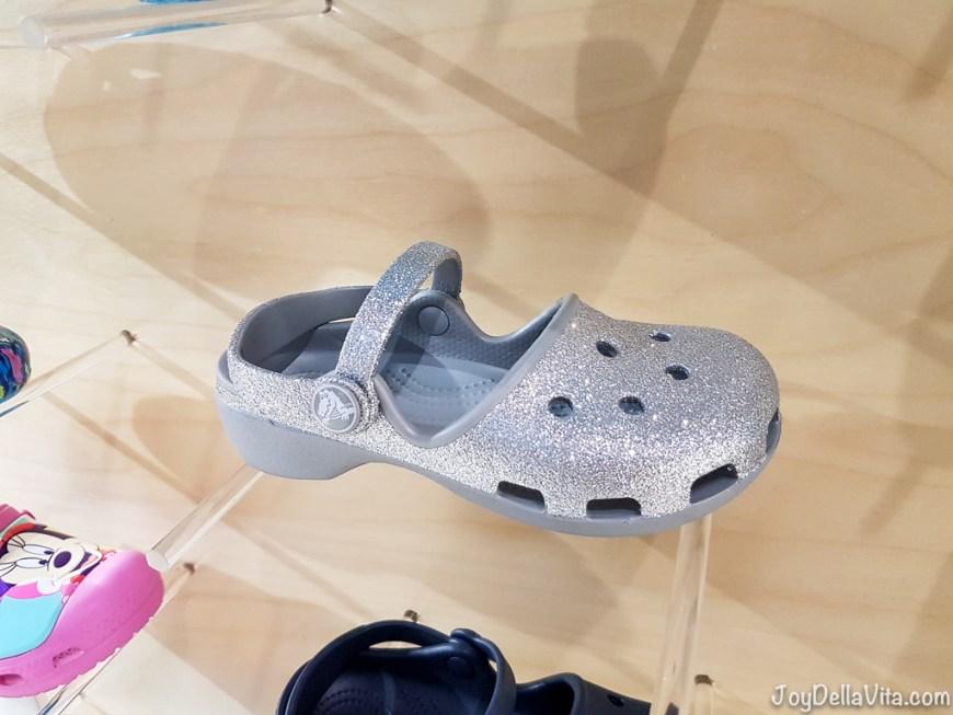 shiny crocs shoes for little girls