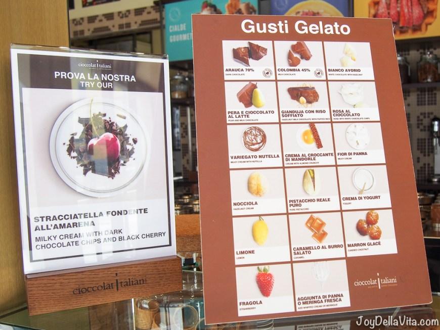Ice-Cream Flavors at Cioccolati Italiani Milan