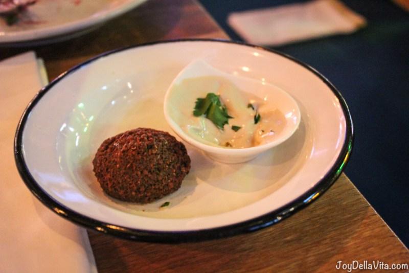 NENI Berlin's Homemade Falafel with fresh mint & Har Bracha tahina
