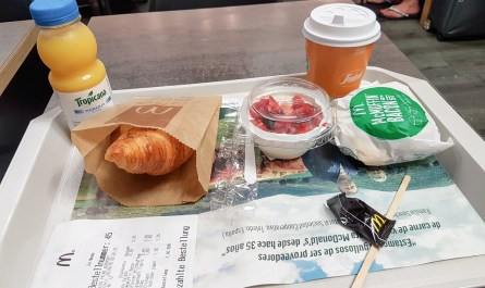 Breakfast at McDonalds Spain Palma Airport JoyDellaVita