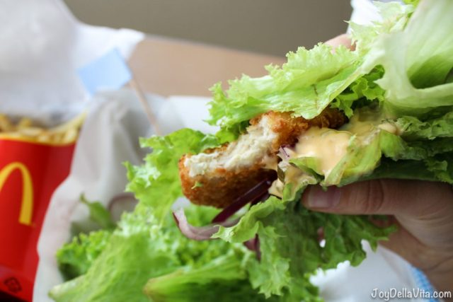 LowCarb Veggie Burger with Veggie Patty, Big Mac Sauce and Red Onions at McDonalds Austria