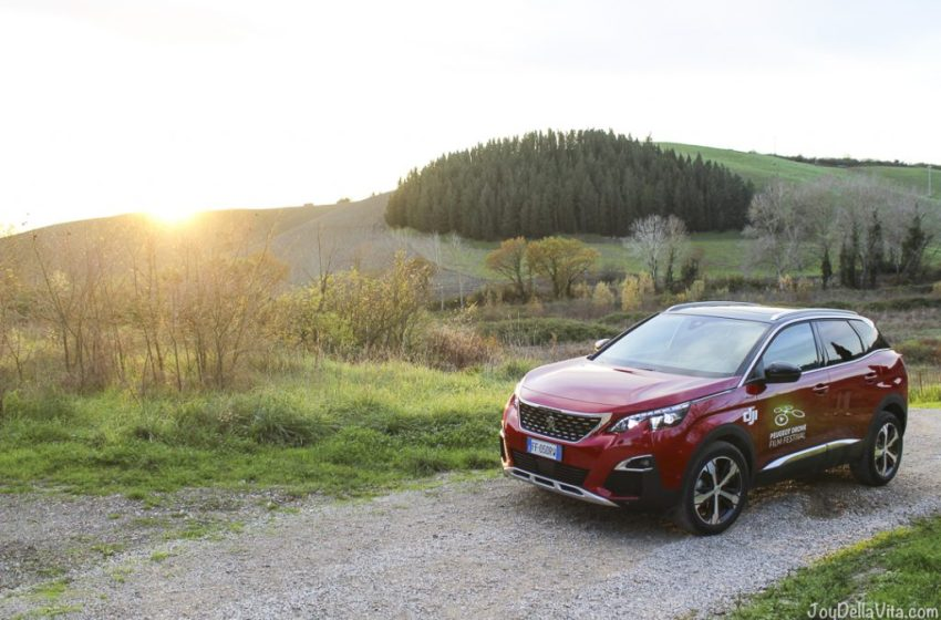 Catching the Sunset with a Peugeot 3008 GT-Line around Castelfalfi in Tuscany