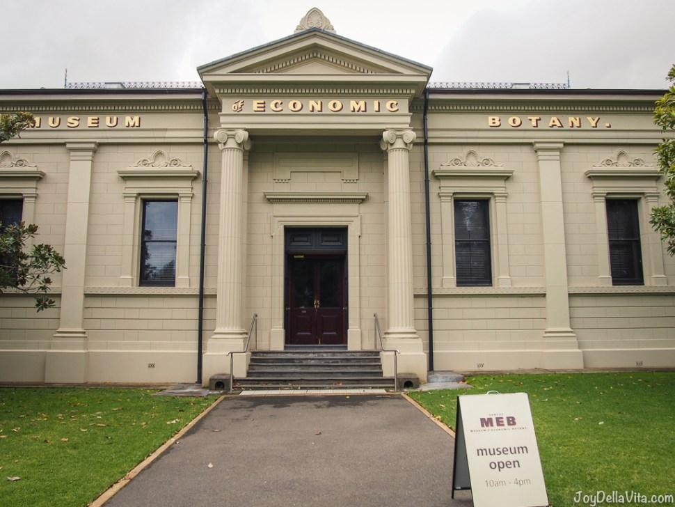Adelaide Santos MEB Museum Economoc Botany inside the Botanic Garden